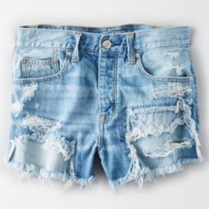 American Eagle Patchwork Shorts